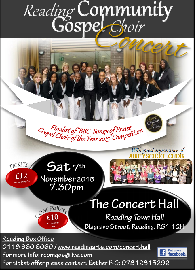 RComGos Annual Concert poster 07/11/15